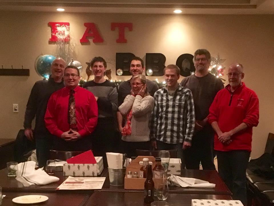 Christmas photo of Creative Design Network employees.