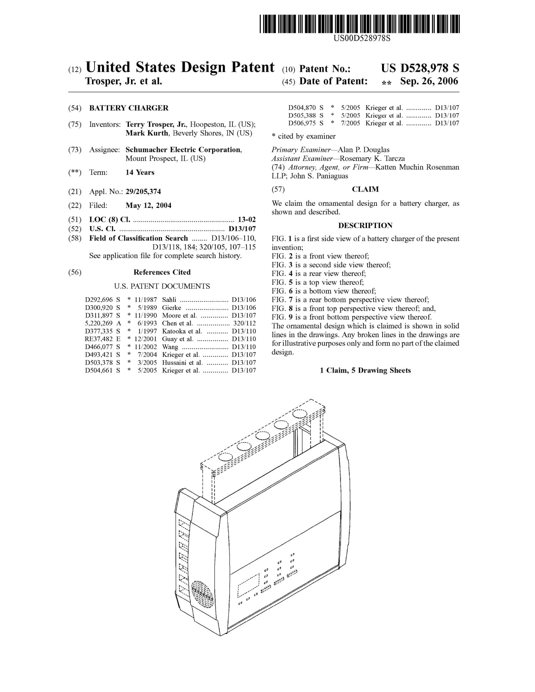 D528978 Battery Charger Schumacher-1