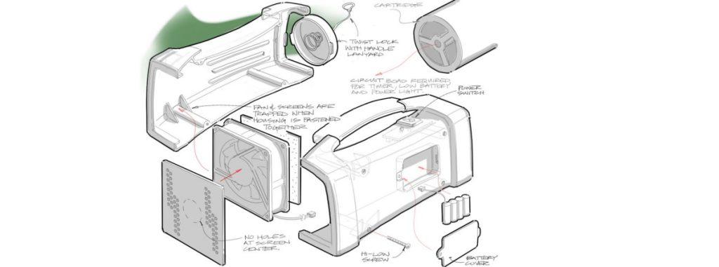 Vaportek Restorator sketch.