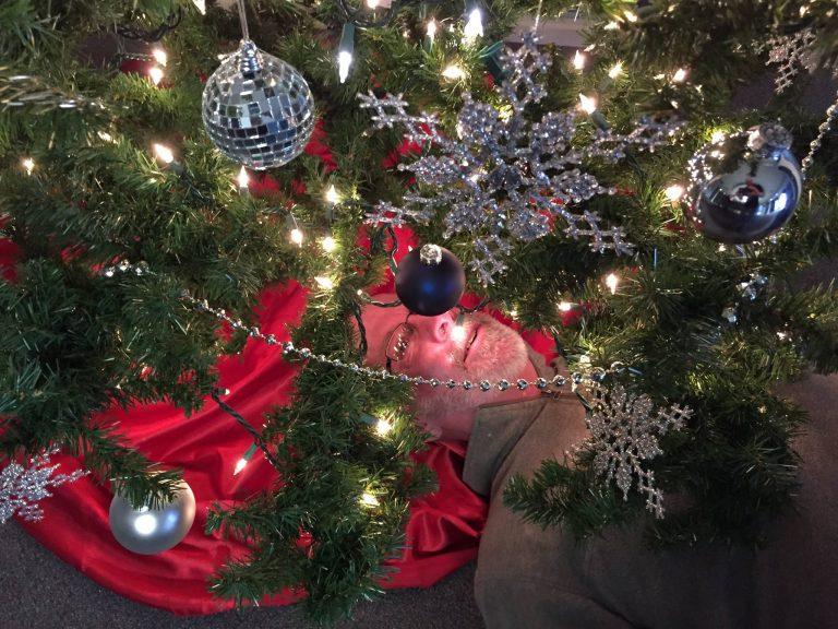 Robert under tree
