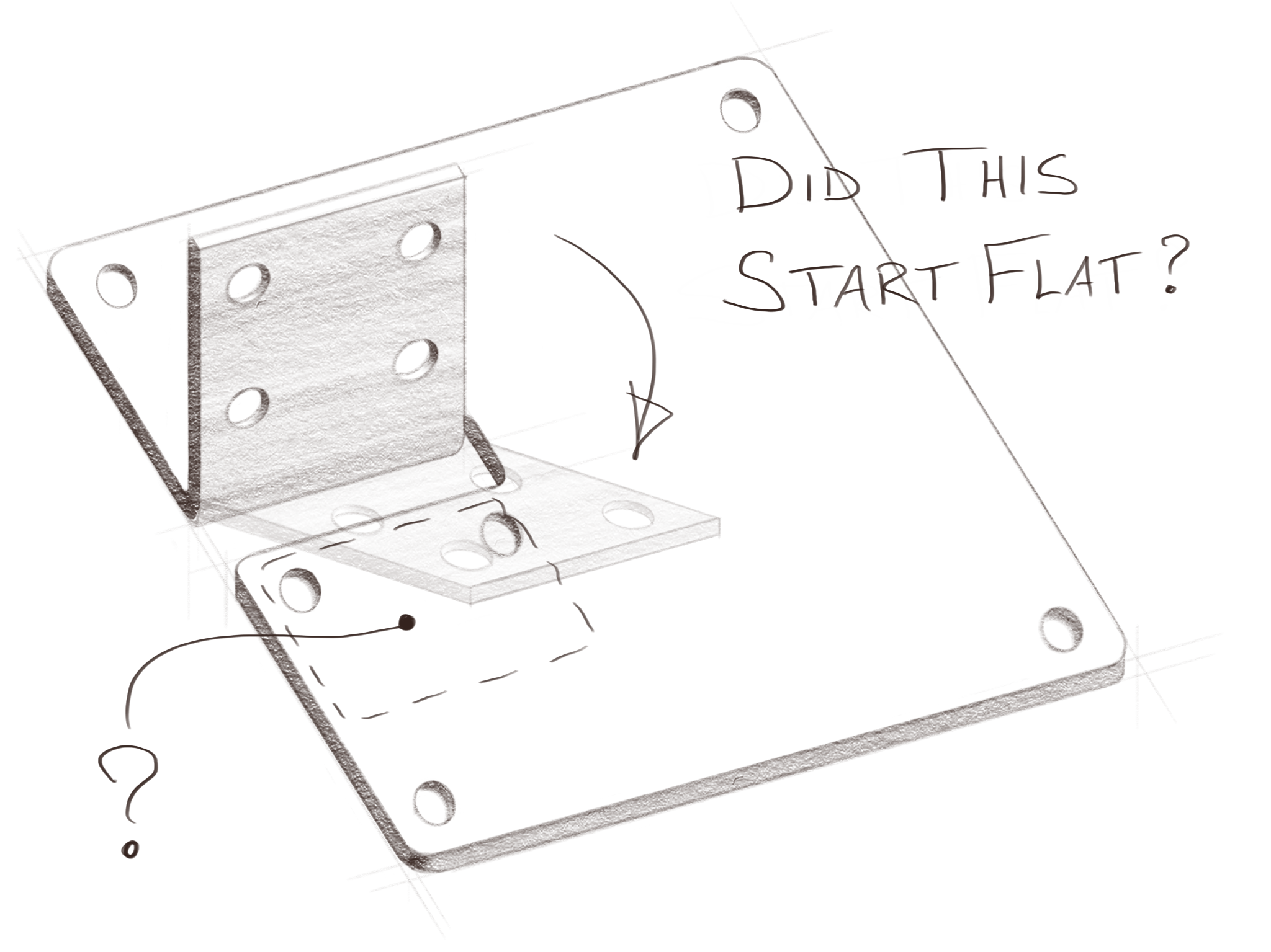 Sheet metal needs to be able to flatten without overlapping if a bend or flange is incorporated.