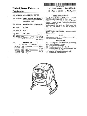 D359121 Housing for Screening Device Cesaroni-Barrett-1