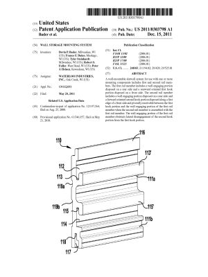 US2011303798A1 wall storage mountg sys-Fuller-1